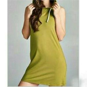 Dresses & Skirts - Green Sleeveless Hoodie Dress